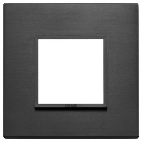 Plaque 2M aluminium noir total