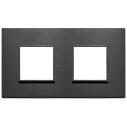 Plaque 4M (2+2) entraxe71 noir total