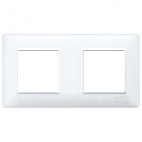 Plaque 4M (2+2) entraxe 71 techn.blanc