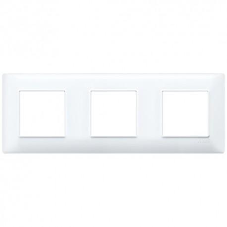 Plaque 6M (2+2+2) entraxe 71 techn.blanc