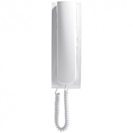Portier en saillie 2F+ telephone blanc