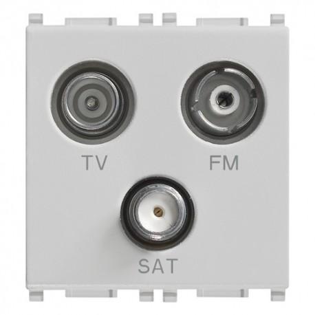 Prise TV-FM-SAT directe 3sorties Silver