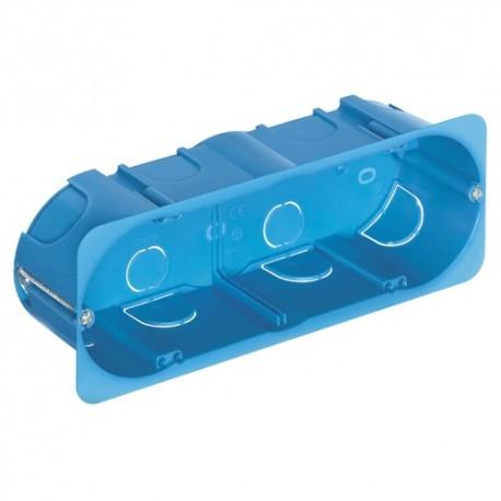 Boîte encastr.6-7M p/cloison sèche azur